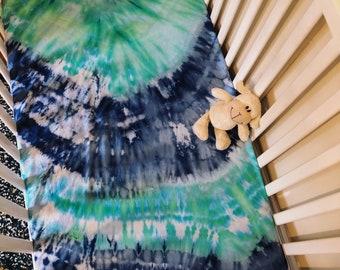 Tie Dye Crib Sheet
