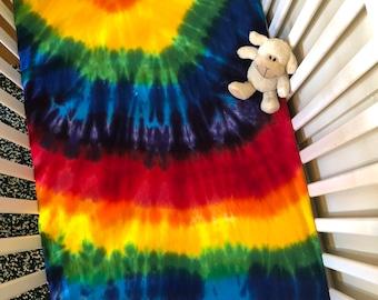 SAMPLE SALE! Rainbow Crib Sheet