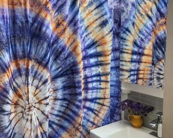 Tie Dye Spiral Shower Curtain