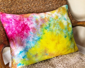 Rainbow Rain Silk Pillowcase