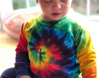 SALE - Tie Dye Rainbow Sweatshirt