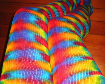 SALE - Psychedelic Thigh High  Socks