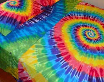 tie dye sheet set