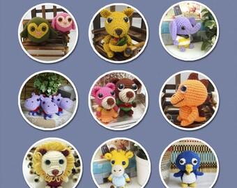 Zoo Animals Amigurumi Patterns - Singles