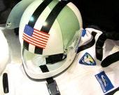 Child's American Astronaut Helmet - With Visor - Space Rocket Moon Galaxy Universe Costume Halloween