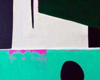 """Original Abstract Painting """"Casual Exclamations"""" post minimalist art"""