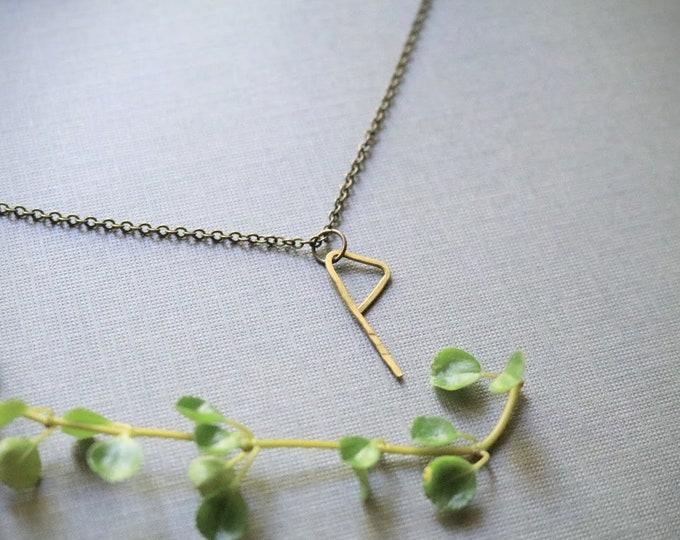 Harmony // viking rune necklace in brass
