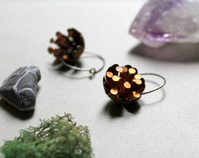 Pollination // brass flower earrings - so pretty and unique!