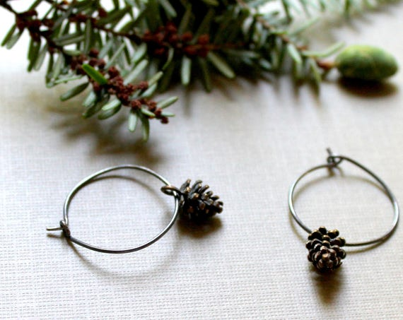 Wee Pinecone // hemlock pinecone earrings