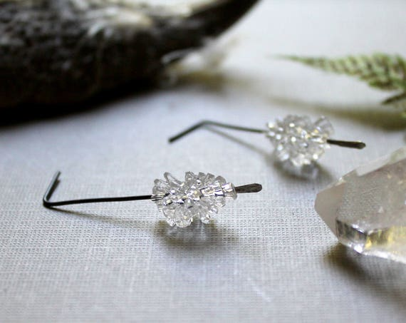 Frost Sprite // clear lucite crystal earrings