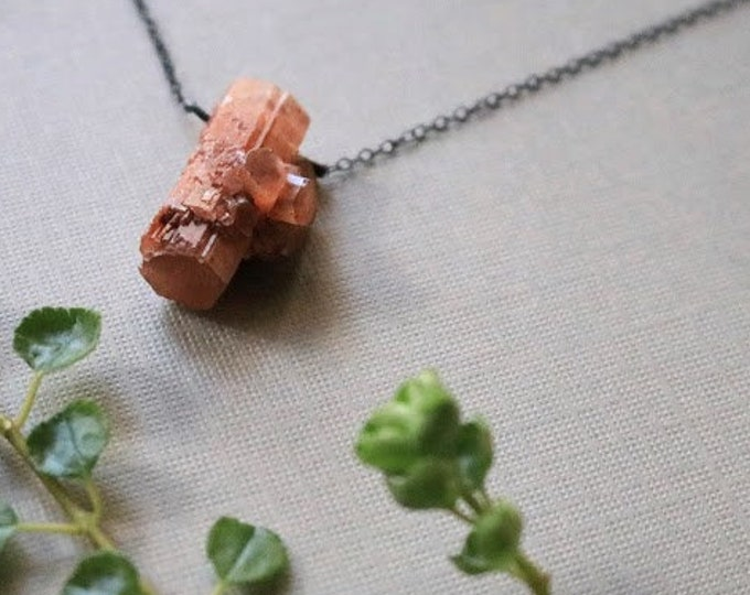 Earth Healer // raw aragonite crystal necklace - choose your crystal!