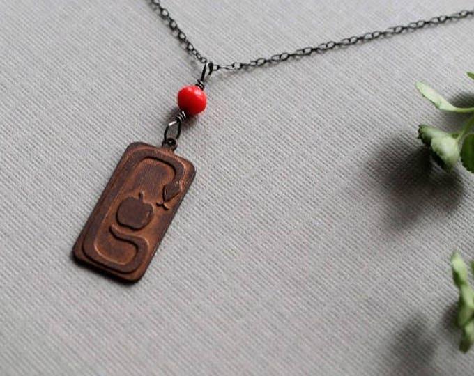The Devil Makes Three // brass snake necklace