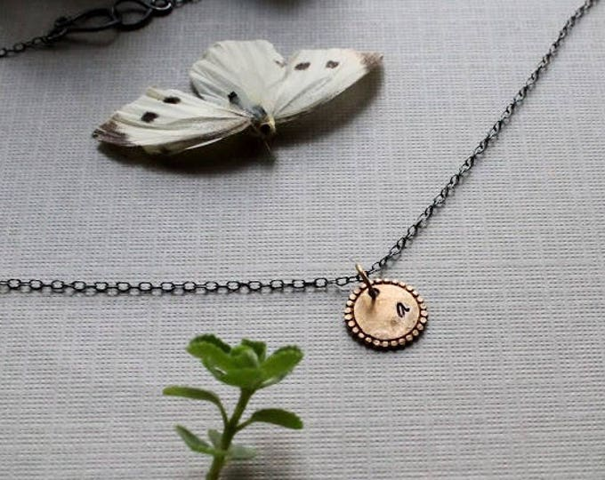 Wanderer // personalized initial circle necklace