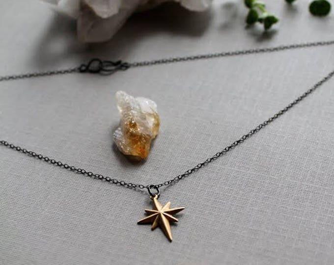 Starchild // raw brass star necklace