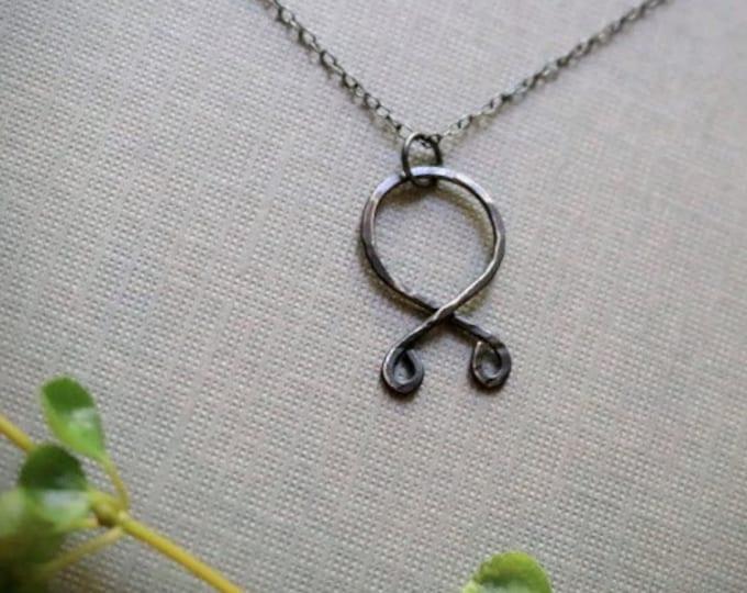 Trollkors // troll cross rune necklace in oxidized sterling silver