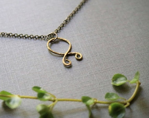 Trollkors // troll cross rune necklace in brass