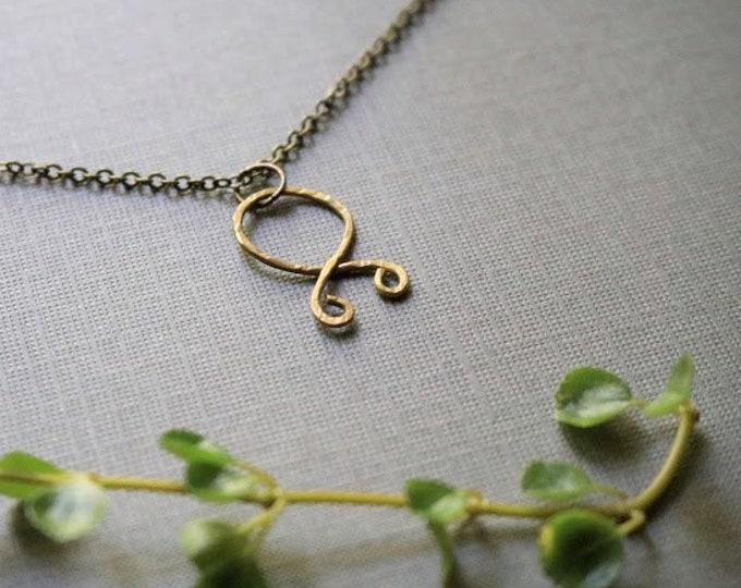 Trollkors // troll cross rune necklace in brass