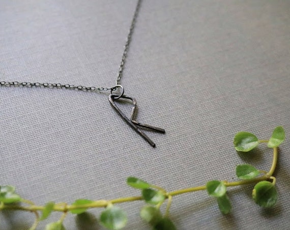 Journey // viking rune necklace in oxidized sterling silver