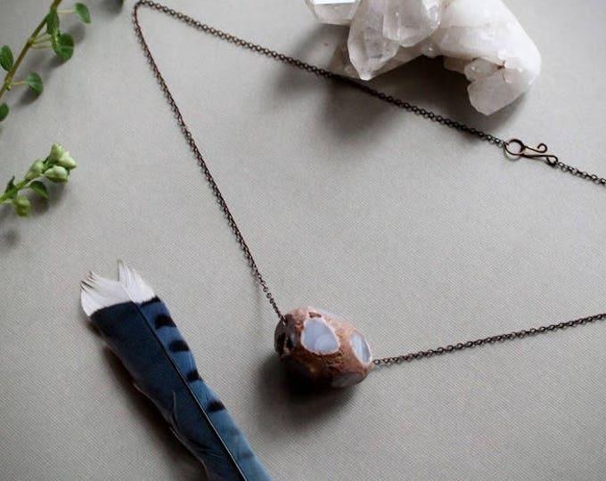 Boulder // large  agate necklace