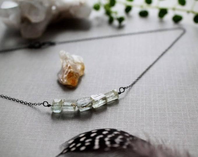 Sea Maiden // raw aquamarine necklace
