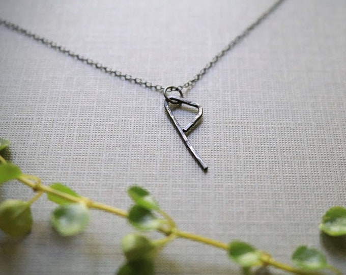 Harmony // viking rune necklace in oxidized sterling silver
