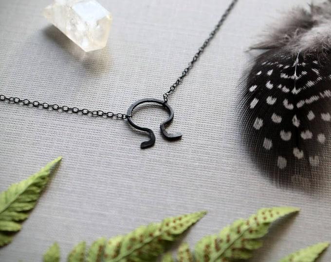 Death // alchemy death symbol necklace