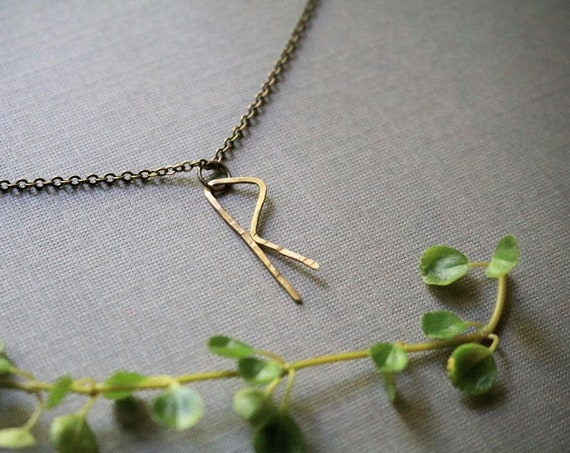 Journey // rune necklace in brass