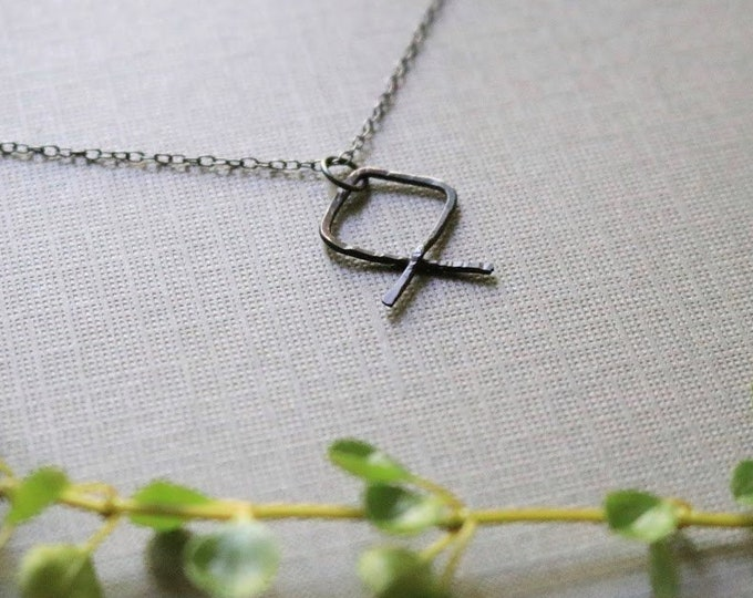 Barrier // viking rune necklace in oxidized sterling silver