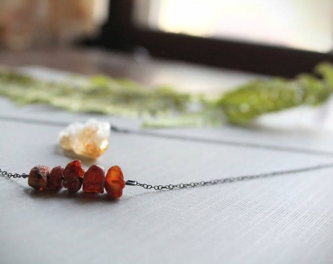 Bellfire // dark amber necklace