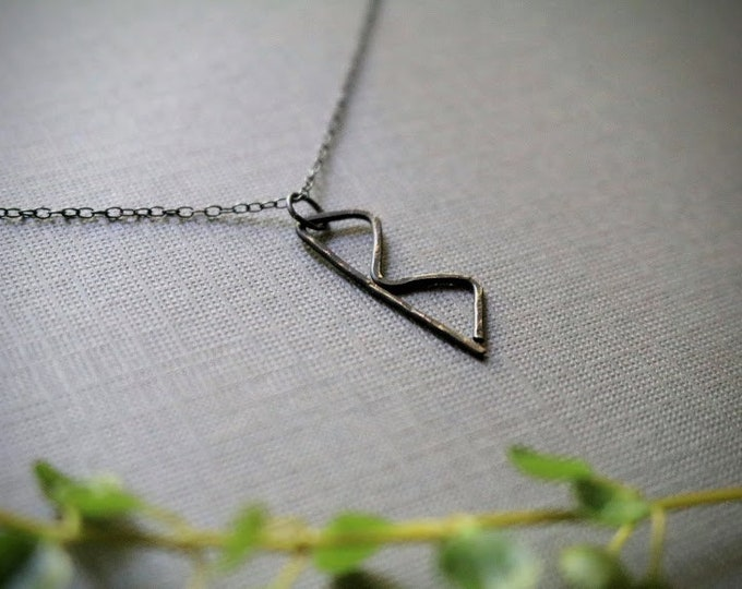 Transformation // viking rune necklace in oxidized sterling silver