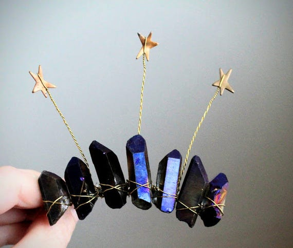 Orion's Belt // star and blue crystal mini crown