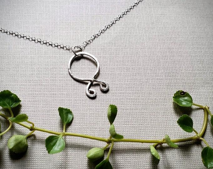 Trollkors // troll cross rune necklace in shiny sterling silver