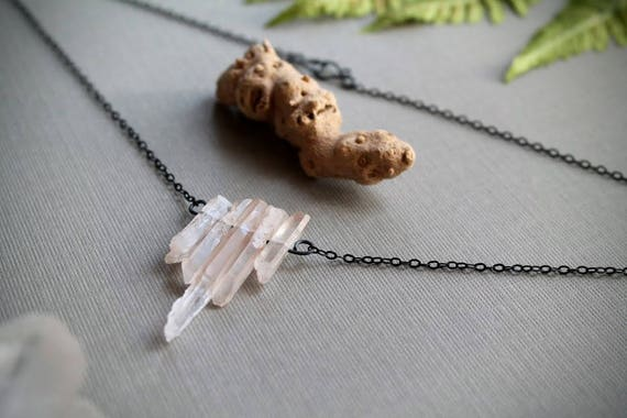 Briar Rose // pale rose quartz necklace