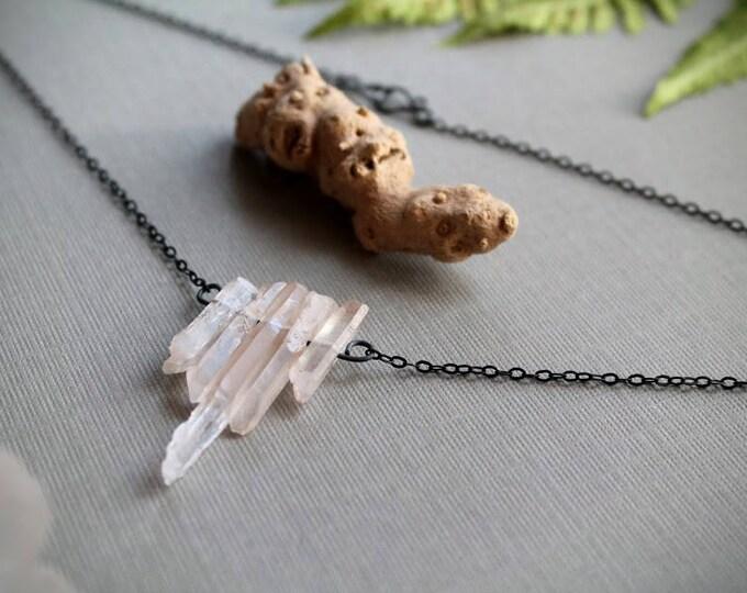 Briar Rose // pale rose quartz necklace