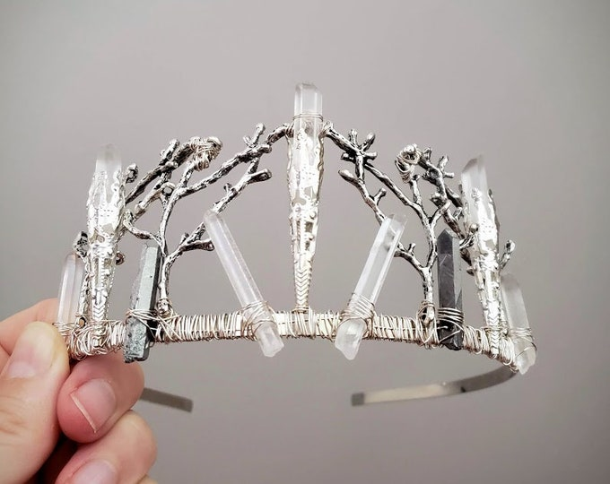 Muse // silver branch and crystal crown