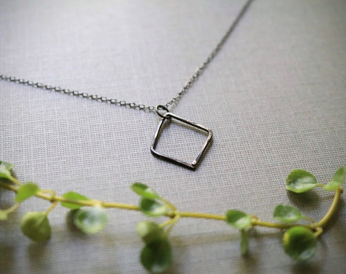 Nourishment // viking rune necklace in oxidized sterling silver