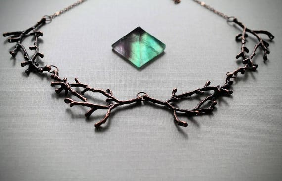 Hedgewitch in Cedar // copper branch necklace