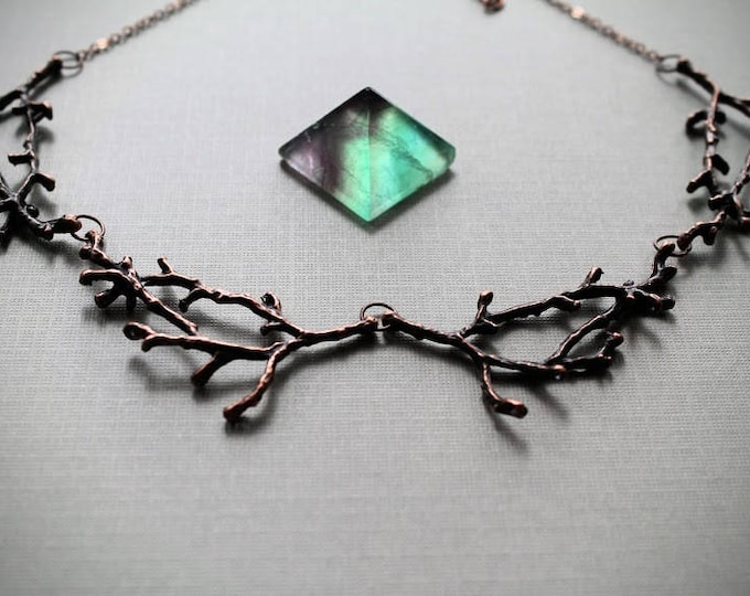 Hedgewitch in Cedar // copper branch necklace