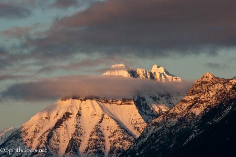 Mountaintop Majesty Mt. Cannon Montana Alpine Sunset image 0