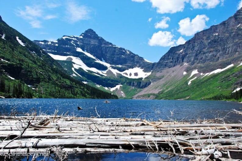 Upper Two Medicine Lake Summer Lake Montana Landscape image 0