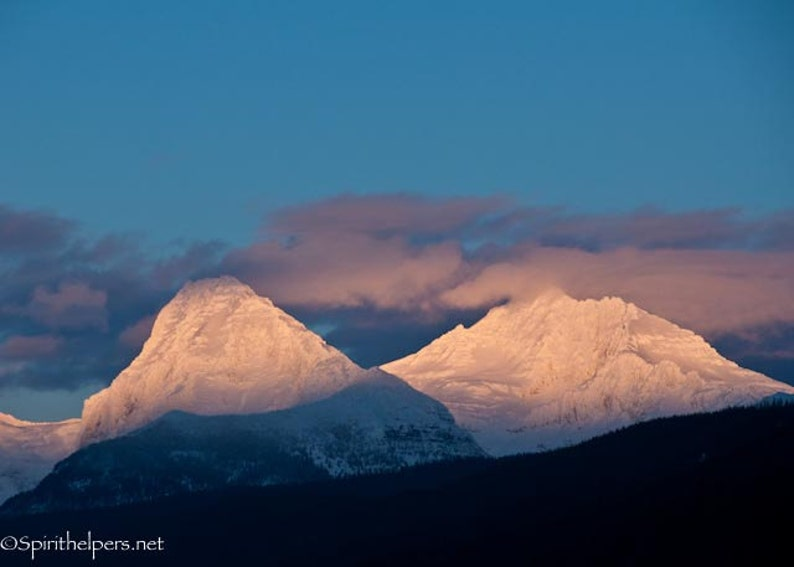 Light of Heaven Alpine Glow Alpenglow Sunset in Montana image 0