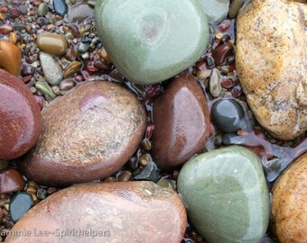 Eye Candy, Montana Lake Rocks, Nature's Gems, Art in Nature, Rainbow Stones, Greeting Card or Photograph