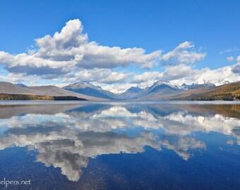 Autumn Beauty Lake McDonald, Glacier National Park, Montana, Greeting card or Photograph