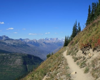 Highline Trail, Montana, Hike, Greeting card or Photograph