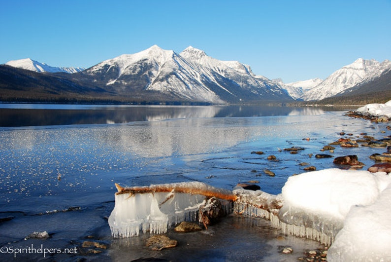 Montana Winter Landscapes Snow and Ice Perfect Holiday image 0