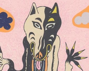 wolf silkscreen