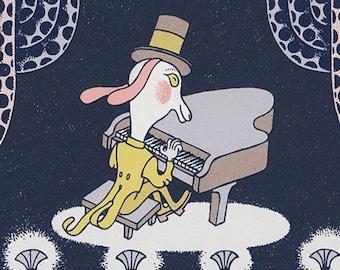 the pianist silkscreen