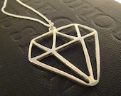 Funky Diamond Bling Necklace - A Sprout Exclusive, Cast in Sterling Silver