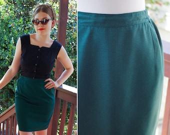 Green 90s Skirt Suit Etsy