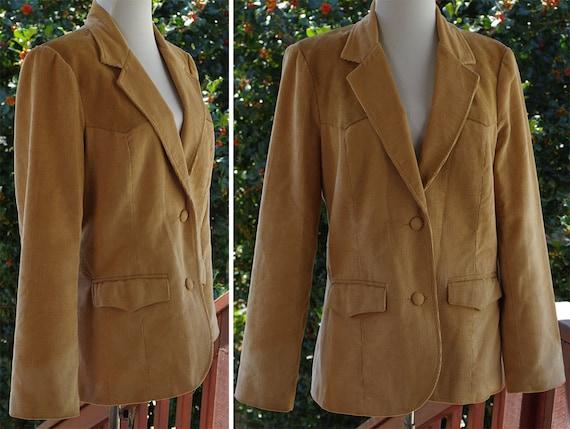 DALLAS 1970's Vintage Light Brown Tan Corduroy Bla